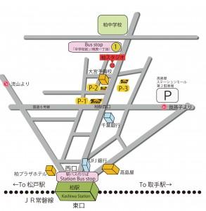 柏MAP JR 常磐線 東京メトロ 千代田線 東武野田線 柏駅 レンタルスタジオ ダンススタジオ 貸しスタジオ