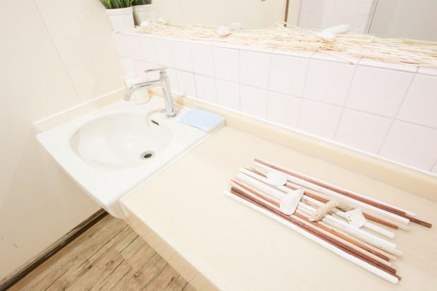 清潔的な洗面台でキッズや女性に人気のダンススタジオ