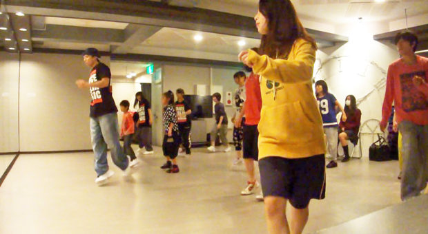 千葉県柏市のストリートダンス教室ダンスレッスン風景